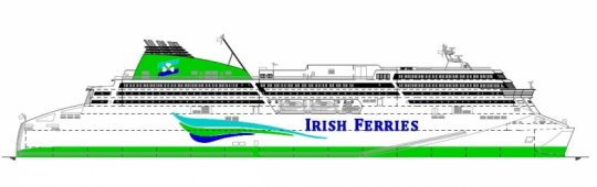 Irish Ferries orders new RoPax at Flensburger